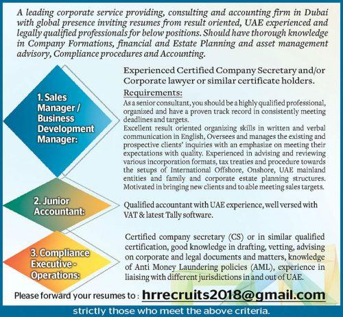 Current Jobs Openings in Dubai - Abu Dhabi - Saudi Arabia - Oman